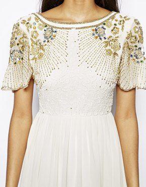 Image 3 ofVirgos Lounge Raina Maxi Dress with Embellished Shoulder