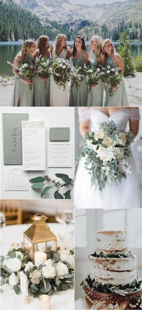 sage green wedding color ideas #wedding #weddings #weddingcolors #greenweddings #hmp #springwedding