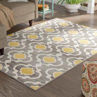 Zipcode Design Rick Gray Yellow Indoor Area Rug In 2020 Area