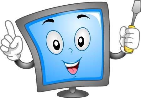 Mascota Ilustracion Que Ofrece Un Monitor De Computadora Computadora Para Ninos Computadora Pokemon De Papel