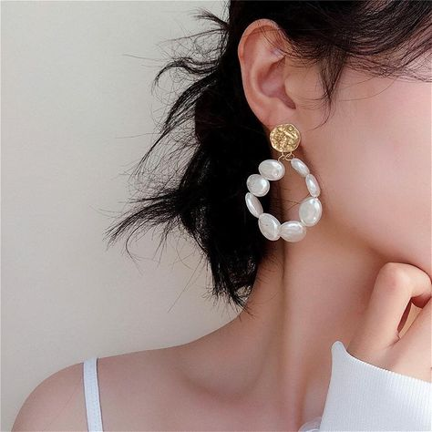 Details about  /14k White Gold Fancy Earrings brand new