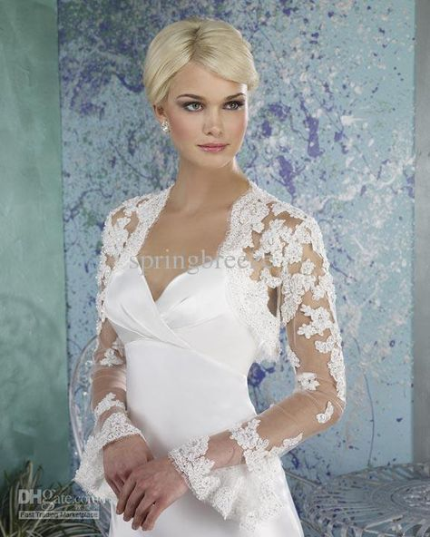 16f71fadf6 Wholesale Wedding Jacket Long bell sleeve Bridal bolero Wedding dress shawl  available in ivory or white, Free shipping, $22.4-39.2/Piece   DHgate