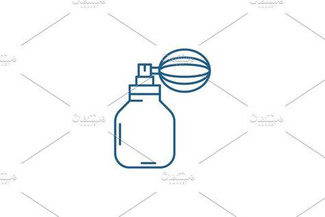 Perfume line icon concept. Perfume