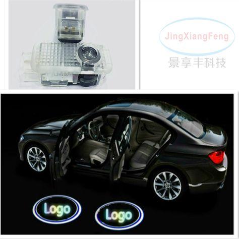 Benz Logo del Portello di Automobile di Illuminazione Entrata Proiettore Ombra di Benvenuto della Lampada della Luce URAQT Luce Portiera Auto LED 2Pcs Proiettore di illuminazione a LED