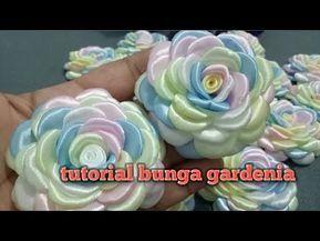 12 Tutorial Bunga Gardenia How To Make Gardenia Flower From Ribbon Youtube Fabric Flowers Diy Sewing Ribbon Flowers Fabric Flower Tutorial