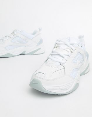 8461ec3a06e Nike Triple White M2K Tekno Trainers in 2019 | Made for Walkin ...