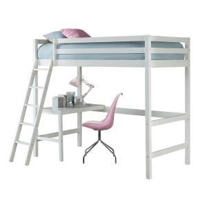 Hillsdale Furniture Caspian White Twin Study Loft 2179 320 Loft Bed Affordable Bedroom Furniture Hillsdale Furniture