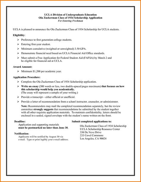 Letter For Scholarship Samplemple Application Cover Employment Gap