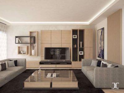 Salon européen – canapé – design – meuble TV – INSIDESIGN BY JABEL ...