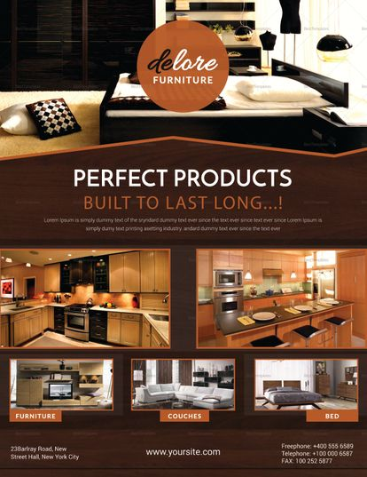 Beautiful Furniture Sale Flyer Template Furniture Design