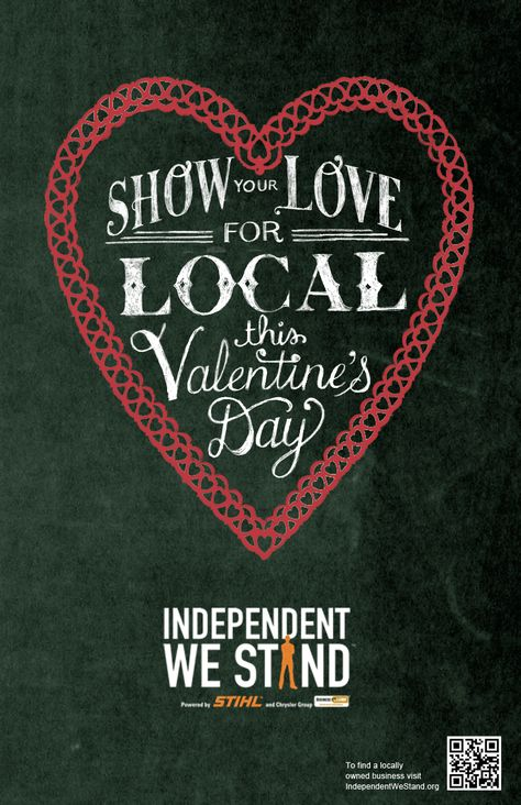 Show love for local this Valentine's Day! Download and share our new posters to help spread the word!