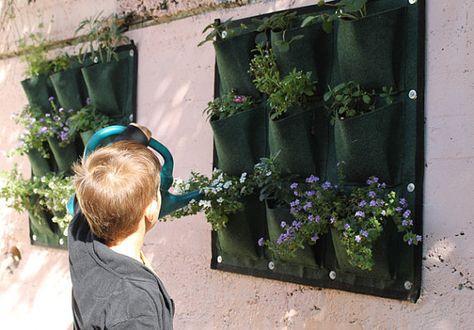 Plantadores de bolsillo jardín vertical verde. por PlantyPockets