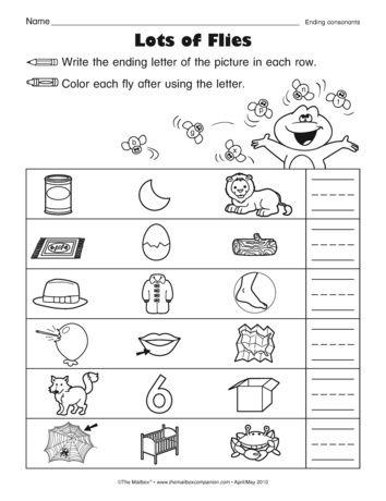 A Phonics Worksheet For Letter Sound Association Ending Sounds Phonics Worksheets Phonics Letter Sound Association Letter sound recognition worksheets