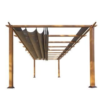 Lodge 14 5 Ft W X 15 Ft D Solid Wood Pergola Aluminum Pergola Outdoor Pergola Wooden Pergola