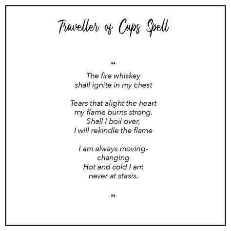 Traveller of Cups: spells for your tarot reading.  #tarot #tarotreading #spells #wiccan #witchspells #tarotspells #ritual #chronicdesign #incantation #meditation