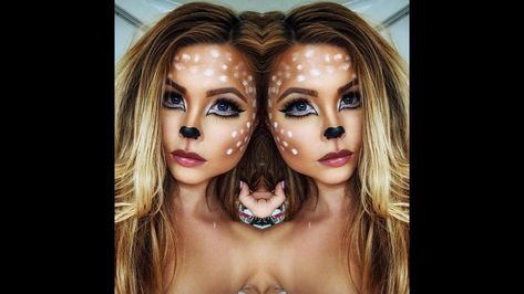 Glam Deer Halloween Makeup