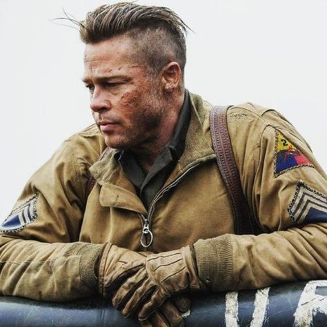 List Of Pinterest Fury Brad Pitt Haircuts Pictures Pinterest Fury