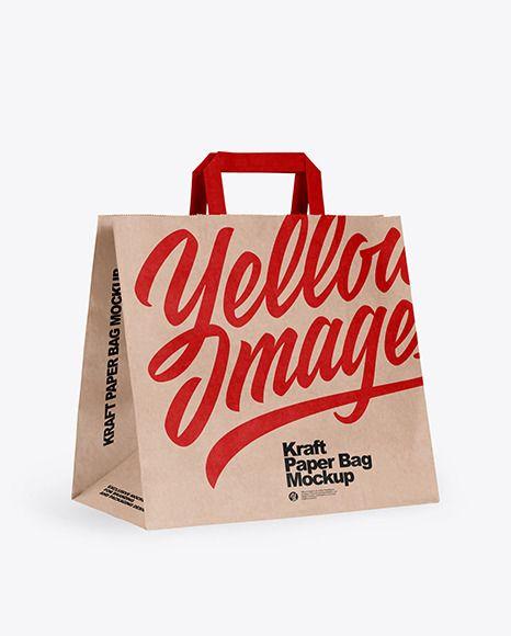 Download Kraft Paper Shopping Bag Mockup In Bag Sack Mockups On Yellow Images Object Mockups In 2021 Bag Mockup Paper Shopping Bag Packaging Mockup
