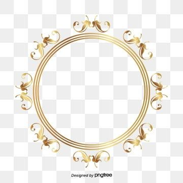 Simple Art Watercolor Flower Psd Layered Advertising Background Circle Frames Gold Circle Frames Frame Clipart