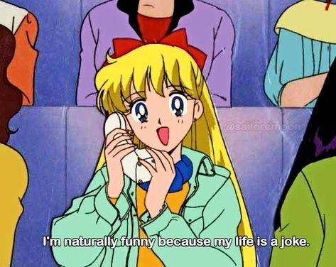A bit scary how relatable this is - sailormoon Sailor Venus, Sailor Pluto, Sailor Jupiter, Sailor Mars, Watch Sailor Moon, Sailor Moon Manga, Sailor Moon Art, Anime Moon, Sailor Moon Funny