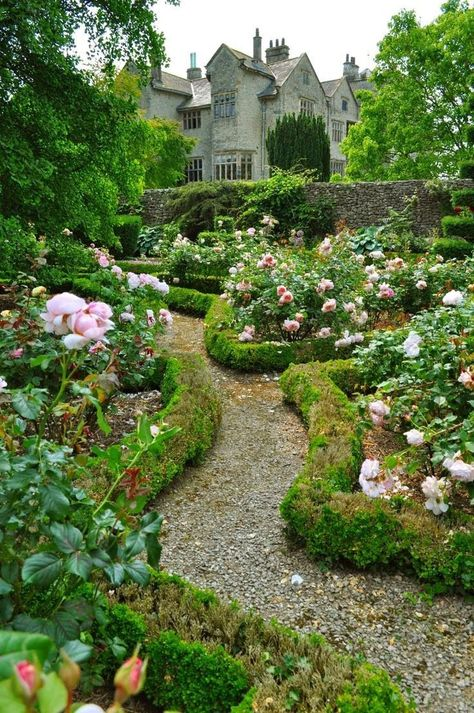 Levens Hall, a stunning Elizabethan historic house and garden in the Lake District. Love this rose garden Formal Gardens, Outdoor Gardens, Garden Cottage, Home And Garden, Meadow Garden, Garden Bed, Garden Leave, Garden Roses, Balcony Garden
