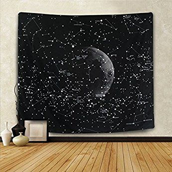 Bleum Cade 12 Constellations Map Wall Decor Universe Galaxy Space Star Constellation Tapestry Wall Hanging W Constellation Tapestry Tapestry Mandala Wall Decor