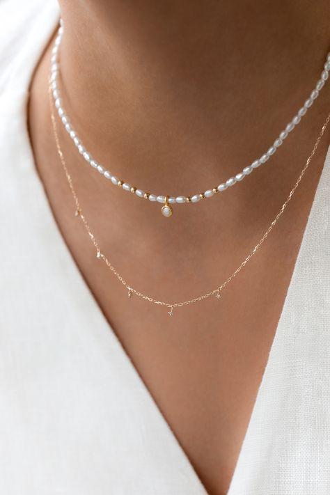 Cute Jewelry, Modern Jewelry, Jewelry Accessories, Stylish Jewelry, Bead Jewellery, Pearl Jewelry, Pearl Choker, Diy Necklace, Necklace Designs