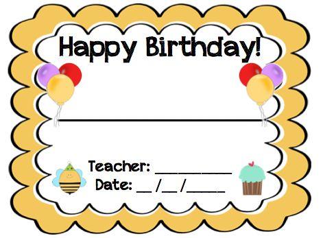 Twinkl Resources \u003e\u003e Note From Teacher Happy Birthday \u003e\u003e Thousands of