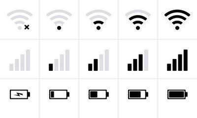 Phone Bar Status Icons Battery Icon Wifi Signal Strength Sponsored Ad Status Icons Phone Bar Battery In 2021 Battery Icon Strength Icon Icon