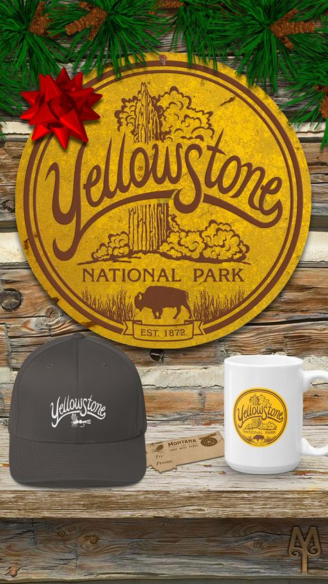 7e4563eb A specialty gift emblazoned with the 'Old faithful, Yellowstone National  Park' ...