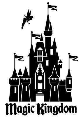 Magic Kingdom Castillo Disney World Disney World Etiqueta De Vinilo Nuevo Ebay Disney Silhouettes Disney Castle Silhouette Disney Castle Drawing