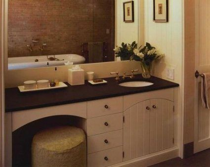 makeup vanity with sink master bath