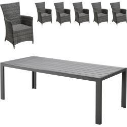 Gartenmobel Set Miami Kansas 1 Tisch 6 Komfortsessel Danisches