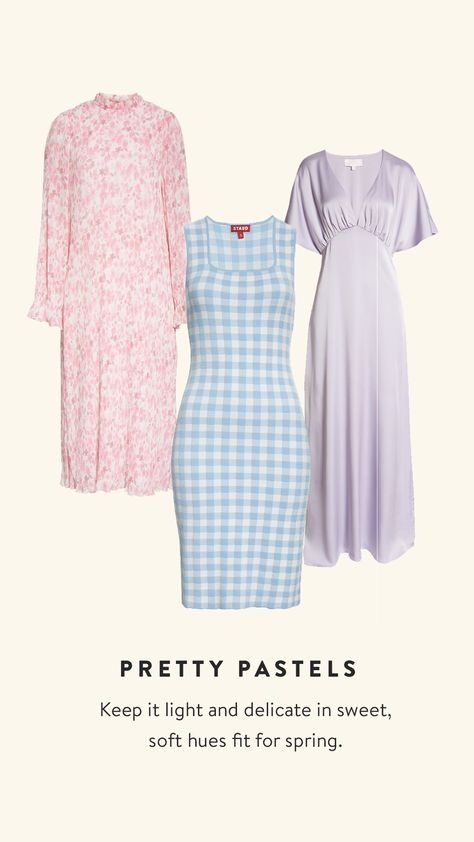 Keep it light and delicate in sweet, soft hues fit for spring. Shop all spring dresses.