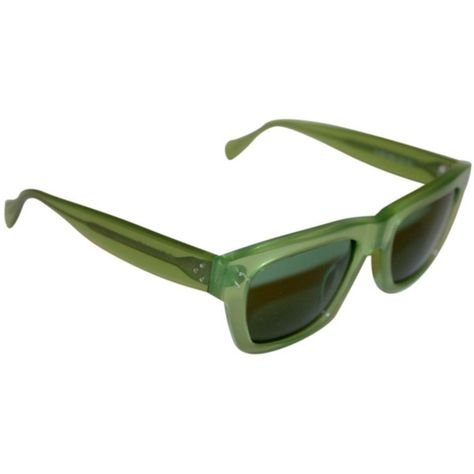 e05e20f647f Pre-owned Celine Cl 41732 s Light Lime Green Wayfarer Sunglasses (7.400  RUB) ❤ liked on Polyvore featuring accessories