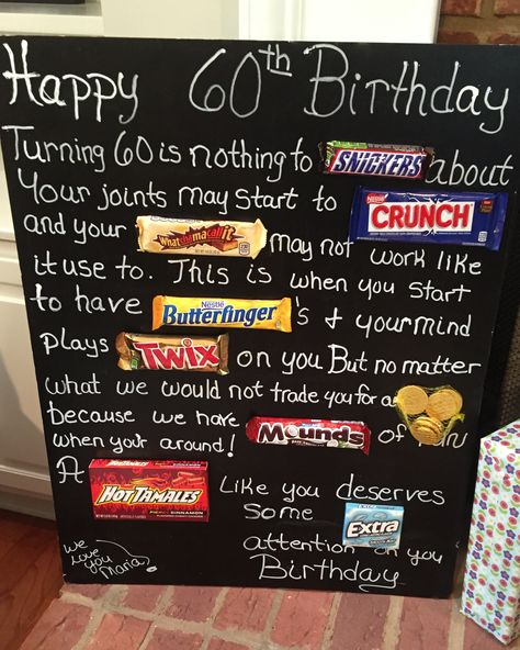 69 Ideas For Birthday Poster Mom Candy Bars
