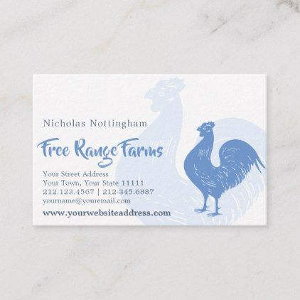 Classic Rooster Poultry Farm Or Restaurant Business Card Zazzle Com Restaurant Business Cards Poultry Farm Classic Gifts