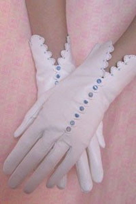 Adult size Black Gloves with Polka Dot Cuff Spider Bows and Silver Nails fnt
