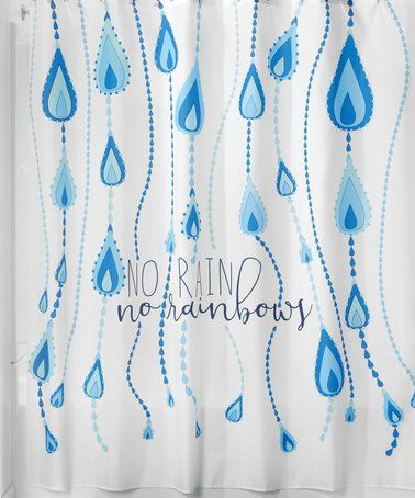 Loving This Blue White Raindrops Shower Curtain On Zulily