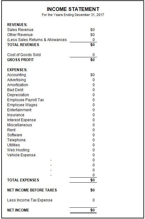 income and expense statement template best of sample in e profit loss deferred revenue expenditure balance sheet