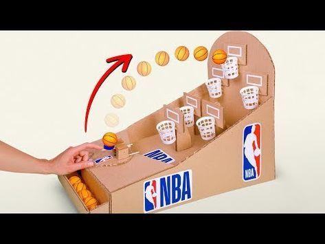 Nbaのバスケットボールボードゲームを段ボールで作ろう Youtube Basquetebol Nba Brinquedos Para Criancas Jogos Caseiros