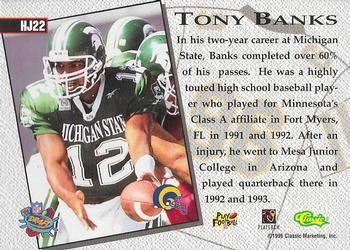 Tony Banks Gallery The Trading Card Database In 2020 Michigan State Football High School Baseball Play Baseball