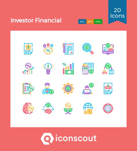Download Investor Financial Icon pack - Available in SVG, PNG, EPS, AI & Icon fonts