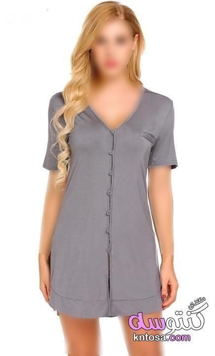 قمصان نوم ستان قصيرة اجمل قمصان نوم مودرن2019 قمصان نوم للعروسة ملابس نوم للعرايس Kntosa Com 24 19 155 Tunic Tops Fashion Casual Dress