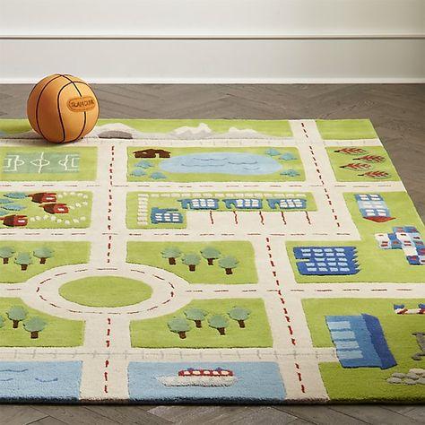 Greenovertheriverrugshs18 Play Rug Road Kids Playroom Rug