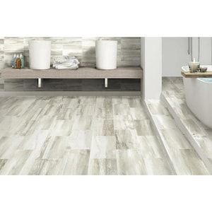 American Villa Water Falls River Rush 12 In X 24 In Glazed Porcelain Stone Look Floor And Wall Tile Lowes Com In 2020 Floor And Wall Tile Flooring Wall Tiles