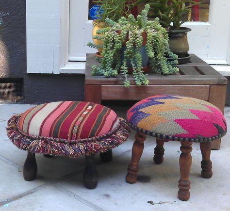 Super Cute Upholstered Footstools