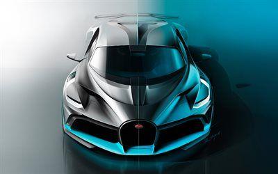 Download Wallpapers Bugatti Divo Studio Hypercars 2018 Cars Artwork Supercars Bugatti Besthqwallpapers Com Car Wheels Super Cars Bugatti