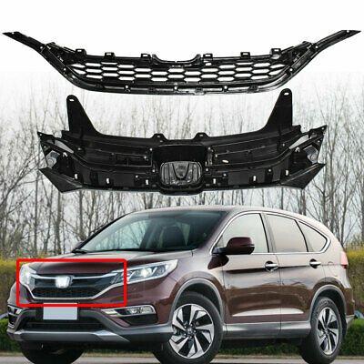 Black Chrome Front Grille Upper Trim Lower Grill Fit For 2015 2016 Honda Crv Usa Honda Crv 2016 Honda Honda