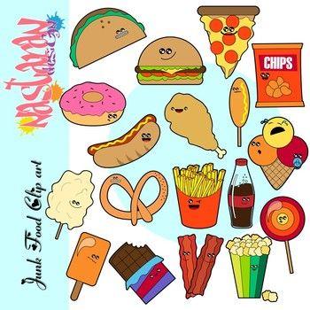 Junk Food Clip Art Food Clipart Junk Food Snacks Food Clips
